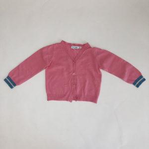 Gilet roze Petit Filou 18m