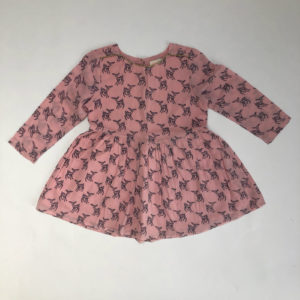 Kleedje roze hertjes Simple Kids 4jr