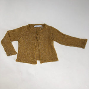 Gilet knitwear mosterd Filou & friends 2jr