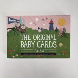Original baby cards-twins Milestone Baby