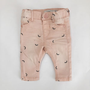 Broekje denim roze oogjes Name it