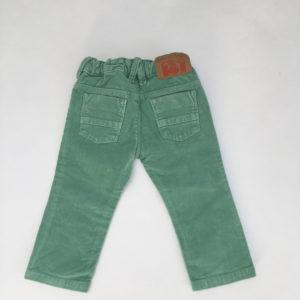 Fluwelen broek groen Fred and Ginger 74
