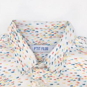 Hemd visjes Petit Filou 6m