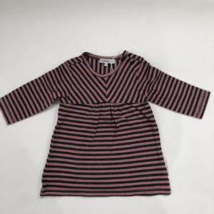 Tweedelig setje roze/zwart streep noppies baby 56