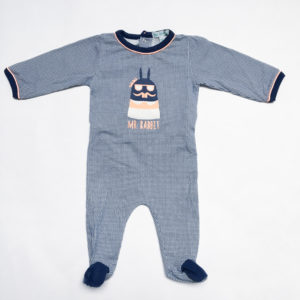 Onesie blauw Mr Rabbit Blablabla 56