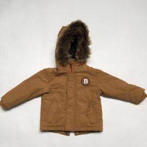 Bruine jas met faux fur kap JBC 74