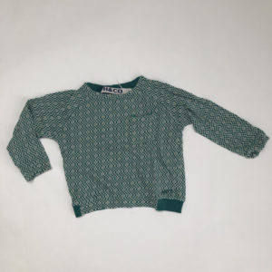 Longsleeve retro groen Hilde & co 4jr