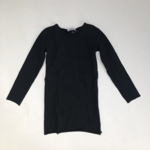 Kleedje fringes zwart Petitbo 8jr
