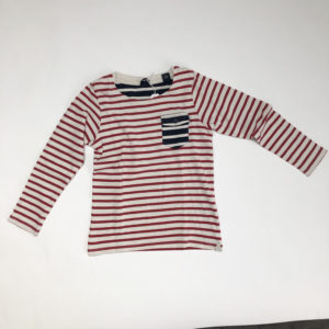 Sweater rood gestreept Scotch and Soda 6 jr