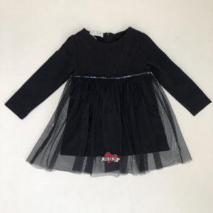 Feestkleedje zwart Elsy baby 2jr