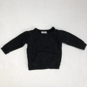 Sweater speckled zwart Nixnut 9-12m