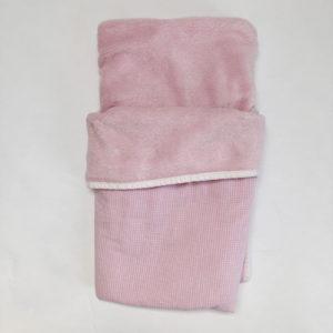 Dekentje roze ruitjes 22 inch