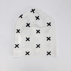 Beanie wit cross Sterrestof