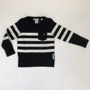 Sweater monochrome streep NIK & NIK 6jr