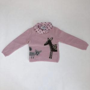 Sweater knit deer Simonetta mini 2jr