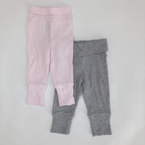 Griijs en roze broekje Jacadi