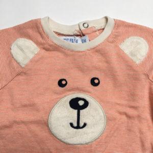 Longsleeve stripe bear Petit Filou 6m