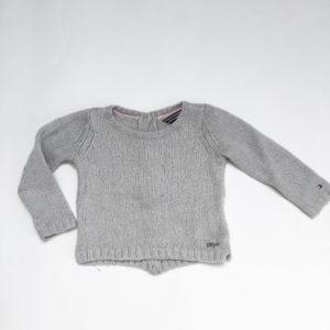 Gebreide sweater grijs Tommy Hilfiger 86