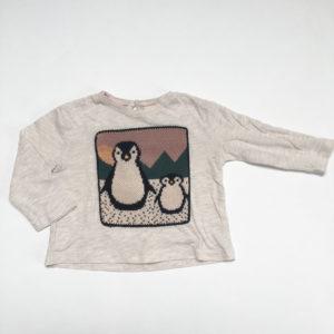 Longsleeve pinguïn Zara 6-9m