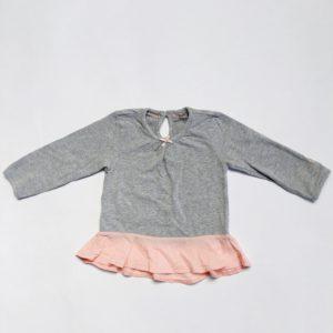 Kleedje grijs met roze onderkant Noppies 68