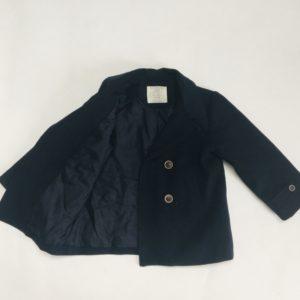 Geklede vest met voering donkerblauw Zara 98