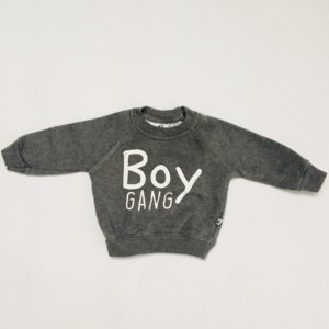 Sweater boy gang antraciet Cos I said so 56/62