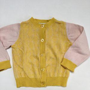 Gilet knit contrastmouwen P'tit Filou 6m