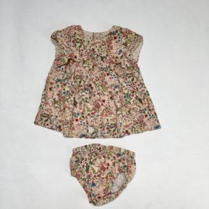 Set kleedje en bloomer flowers Zara 74