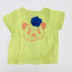 T-shirt bear limoengroen P'tit Filou 3m