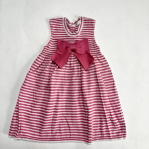 Kleedje pink stripes sleeveless Benetton baby 74