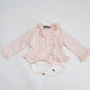 Gilet frill roze met touwtjes Monnalisa 92