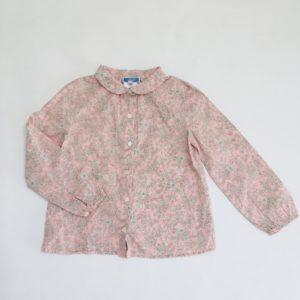 Meisjeshemd pink flowers Jacadi 5jr