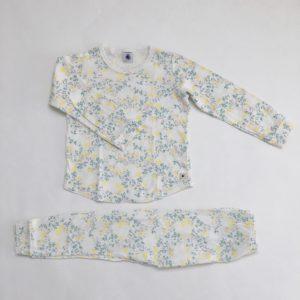 Pyjama flowers yellow Petit Bateau 5 jr