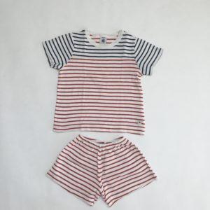 Pyjama kort stripes Petit Bateau 98