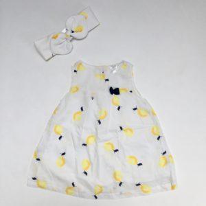 Kleedje + haarband lemons Baby Club 68