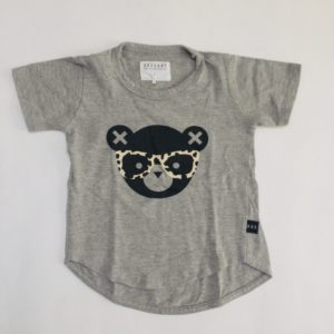 T-shirt bear leopard glasses HUXbaby 4jr