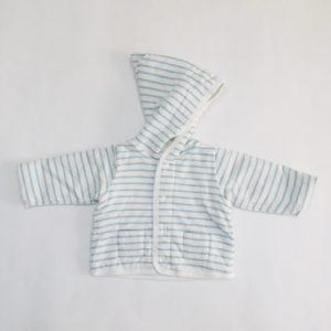 Sweatervest hoodie stripes lichtblauw Petit Bateau 1m