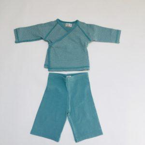 Pyjamaset munt stripes Kidscase 6m