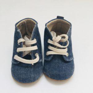 Denim schoentjes Baby walker maat 18