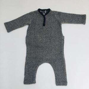 Gevoerde Onesie black speckled Carlijnq 50/56