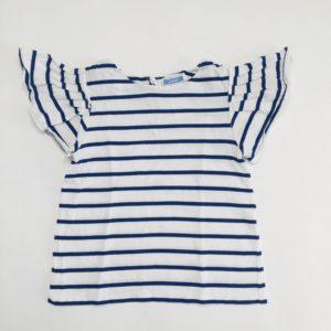 T-shirt met frill mouwen blauwe streepjes Jacadi 116