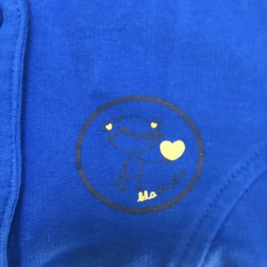 Sweatervest blauw Blablabla 1jr