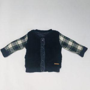 Jasje zwarte teddy omkeerbaar Noppies 62/68