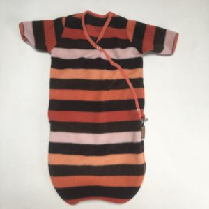 Slaapzak fleece coloured stripes Pericles 0-6m