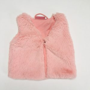 Gilet / vestje teddy pink Knot so bad 9m
