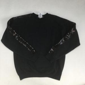 Sweater zwart glitter Lervis & Melly 12 jr