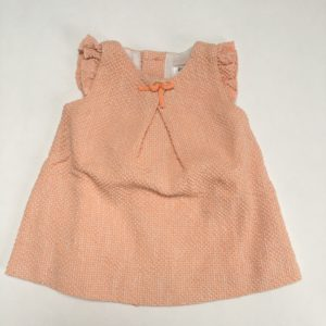 Kleedje reliëf oranje Zara baby 3-6m