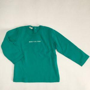 Longsleeve groen Benetton baby 9-12m