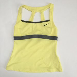 Tennistopje geel Nike 8-10jr