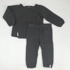 Setje knitwear antraciet Noppies 74